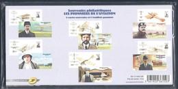 FRANCE 2010 BLOC SOUVENIR NEUF SOUS BLISTER BS 49 A 54 LES PIONNIERS DE L AVIATION - Souvenir Blocks
