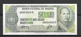 Bolivie : 50000 Pesos  Bolivianos ( Jamais  Circulé) - Bolivie