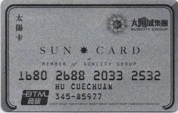 Carte De Membre : Suncity Group Macau Macao - Cartes De Casino
