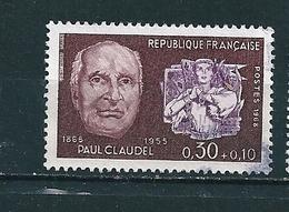 N° 1553  Célébrité Paul Claudel Timbre France 1968 Oblitéré - Francia