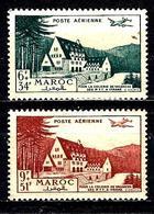 MAROC Aer68/69* Au Profit Des Colonies De Vacances Des PTT - Marruecos (1891-1956)