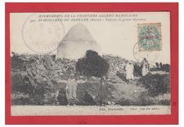 MAROC-- BERKANE-- TOMBEAU DU GRAND MARABOUT--MILITARIA-- TRESOR ET POSTES -- CP 1908-- - Other