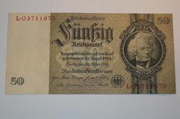 GERMANIA GERMANY BANCONOTA DA 50 MARCHI DEL 1933 REICHSMARK PERFETTA MOLTO BELLA - 1933-1945: Drittes Reich