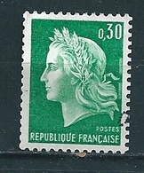 N° 1611 Marianne Cheffer Typographie Une Bande Phosphore (1970)    Oblitéré Timbre FRANCE 1969 - France