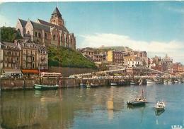 Cpsm  - Le Treport - Le Port Et L 'église St Jacques     AF1261 - Le Treport
