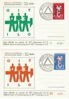 Belgique:OIT Organisation Internationale Du Travail, Europa COB N° 1064/65 - Souvenir Cards