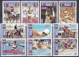 Mali 1995 Sport Spiele Olympia Olympics Atlanta Olympiasieger Reiten Pferde Horses Fechten Schwimmen, Mi. 1327-6 ** - Mali (1959-...)