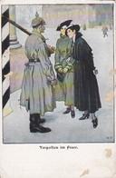 AK Vorposten Im Feuer - Künstlerkarte Wennerberg - Patriotika -  1. WK (38978) - Guerre 1914-18