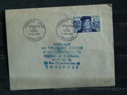 FDC  1952 Leonard De Vinci - YT 929 - Amboise - FDC