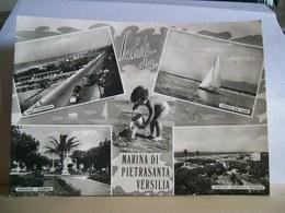 1961 - Lucca - Saluti Da Marina Di Pietrasanta   Versilia - Vedute - Viale Litoraneo Tonfano Fiumetto - Vera Fotografia - Saluti Da.../ Gruss Aus...