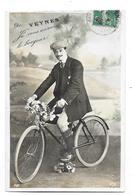 VEYNES (05) Carte Fantaisie Souvenir Cycliste - France