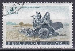 Mali 1961 Wirtschaft Economy Landwirtschaft Agriculture Mähdrescher Harvester Traktoren Tractor, Mi. 34 Gest. - Mali (1959-...)