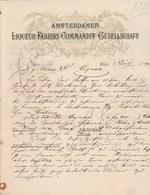 Autriche Facture Lettre Illustrée 8/3/1890  Amsterdamer Liqueur Fabriks Commandit Gesellschaft  WIEN - Autriche