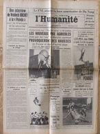 Journal L'Humanité (25 Juil 1966) Prix Agricoles - FNL - Mondial Foot - Cassis - Marie Laforêt - Periódicos