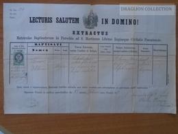 ZA176.12   Old Document Slovakia Bratislava  - Theresia Filomena (1849) - LUFERT  1871 --Carolus Pázmány - Naissance & Baptême