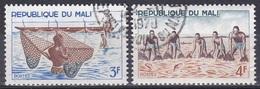 Mali 1966 Wirtschaft Economy Fischerei Fishery Fishing Netze Net Ernährung Nahrung Diet Food, Mi. 125-6 Gest. - Mali (1959-...)