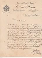 Autriche Facture Lettre Illustrée 25/11/1892  C TRAU Thee Und Rum En Gros  WIEN - Austria
