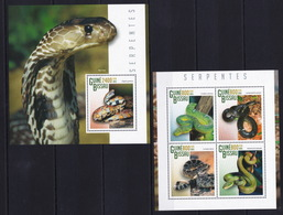 Guinea Bissau 2015 - Snakes - Reptiles - Fauna - Nature - Stamps MNH** XG - Snakes