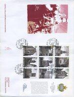 SAN MARINO - FDC VENETIA 2014 - CASTELLI - FOGLIETTO - FDC