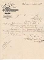 Autriche Facture Lettre Illustrée 21/4/1896 Josef KIRNBAUER Rum Thee Cognac Arac  WIEN - Autriche