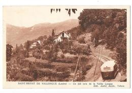 SAINT PRIVAT DE VALLONGUE (48) Joli Coin Chemin De Fer Autorail - Autres Communes