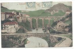 11. St-CLAUDE . LE PONT D'AVIGNON  . CARTE COLORISEE AFFR A-CHEVAL LE 18 SEPT 1905 - Saint Claude