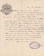 Autriche Facture Lettre Illustrée 6/11/1891 Ferd. TÜSCHER Maschinen Fabrik  WIEN - Autriche