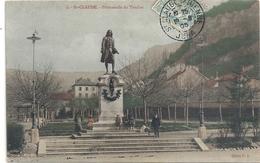 3. St-CLAUDE . PROMENADE DU TRUCHET   . CARTE COLORISEE AFFR A-CHEVAL LE 19 SEPT 1905 . - Saint Claude