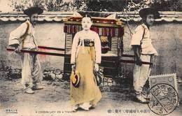 CPA A COREAN LADY ON A TRAVEL - Corée Du Sud