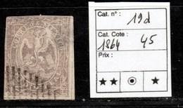 Mexique - Yvert N°19d De 1864 Cote 45€ - Mexique