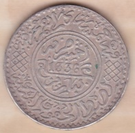 Maroc. 5 Dirhams (1/2 Rial) AH 1336 Paris. Yussef I. ARGENT - Marokko