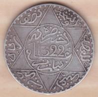Maroc. 5 Dirhams (1/2 Rial) AH 1322 Paris. Abdul Aziz I. ARGENT - Morocco