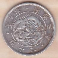 Japan 20 Sen Year 3 (1870)  Mutsuhito , En Argent ,Y# 3 - Japan