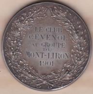 Médaille En Bronze Le Club Cévenol Au Groupe Du Mont Liron 1901, Alès Gard, Par Henri Naude - Autres