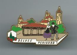 Pin's PBVF Plus Beau Village De France Belves Périgord - Villes