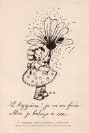 91Md  Illustrateur Fillette Et Le Plumeau Comission Americaine Contre La Tuberculose Croix Rouge - 1900-1949