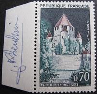 R1680/414 - 1963 - PROVINS - N°1392A NEUF** ➤➤➤ Signature De L'artiste Sur Bord De Feuille - France