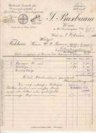Autriche Facture Illustrée 8/2/1911 F BUXBAUM Grammophoplatten WIEN - Gramophone Tourne Disques - Austria