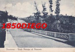 FROSINONE - VIALE PRINCIPE DI PIEMONTE  F/GRANDE VIAGGIATA 1937 ANIMAZIONE - Frosinone