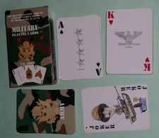 Rare Jeu De 54 Cartes En Boite, Militaria Military Playing Cards, As De Pique Ace Of Spade, Joker, U.S. ARMY US - 54 Cartes