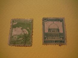 Palestine - 1927 - 2 Timbres Oblitérés - Palestine