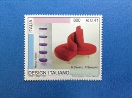 2001 ITALIA FRANCOBOLLO NUOVO STAMP NEW MNH** - FERRERI CANANZI SEMPRINI DESIGN ITALIANO - 1991-00: Mint/hinged