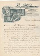 Autriche Facture Lettre Illustrée 13/11/1909 Leopold WURMSER Manches Parapluies Ombrelles VIENNE - Autriche