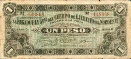 1 PESO REVOLUTION MEXICAINE ARMEE DU NORD EST 1915 - Mexico