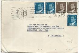 VALLADOLID CC A UK  SELLOS BASICA - 1931-Hoy: 2ª República - ... Juan Carlos I