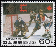 KOREA NORTH - Scott #2665 Calgary '88 Olympic Games, Ice Hockey / Used Stamp - Winter 1988: Calgary