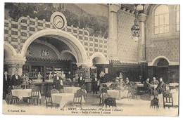 CPA Metz Gare Salle D'attente 1° Classe 1913 - Metz