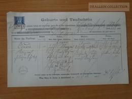 ZA176.16 Old Document Austria WIEN  Matzleinsdorf - Eduard (1856)    1885 - Naissance & Baptême