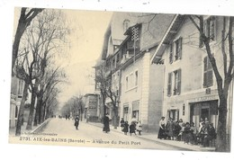 AIX LES BAINS (73) Avenue Du Petit Port Terrasse Animée - Aix Les Bains