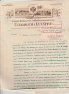Autriche Facture Lettre Illustrée 23/1/1912 CHAMRATH & LUZATTO  Wein WIEN NUSSDORF - Austria